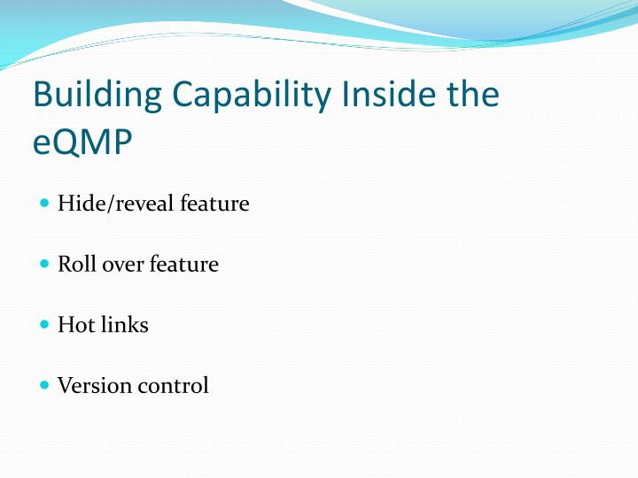 Building Capability Inside the