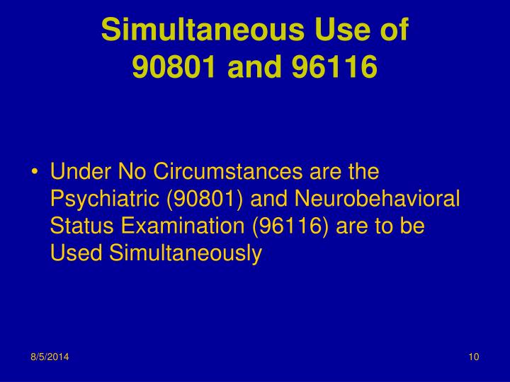 Simultaneous Use of