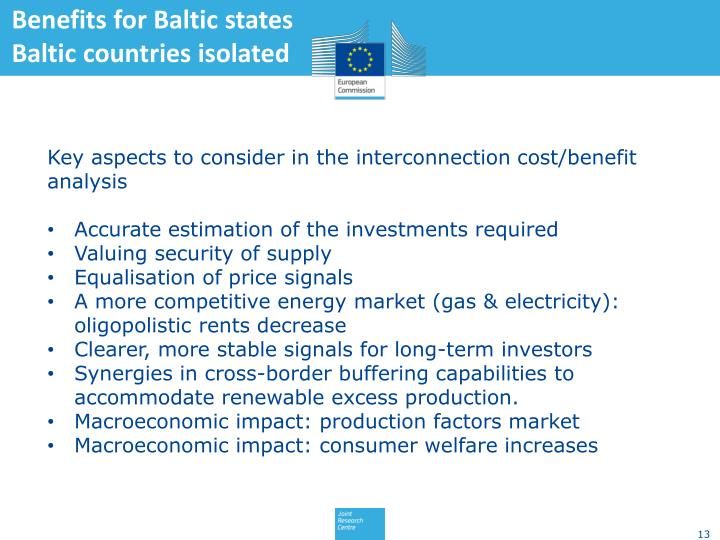 Benefits for Baltic states