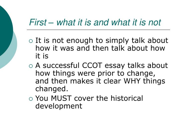 First – what it is and what it is not