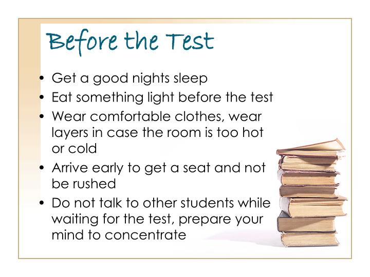 Before the test1