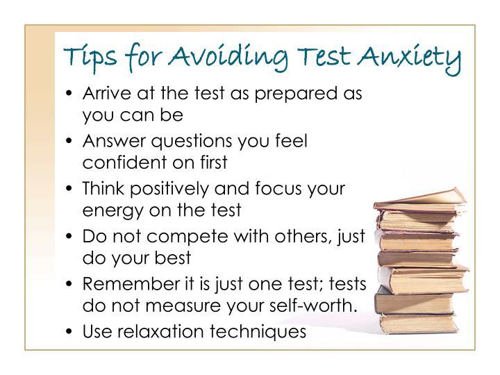 Tips for Avoiding Test Anxiety
