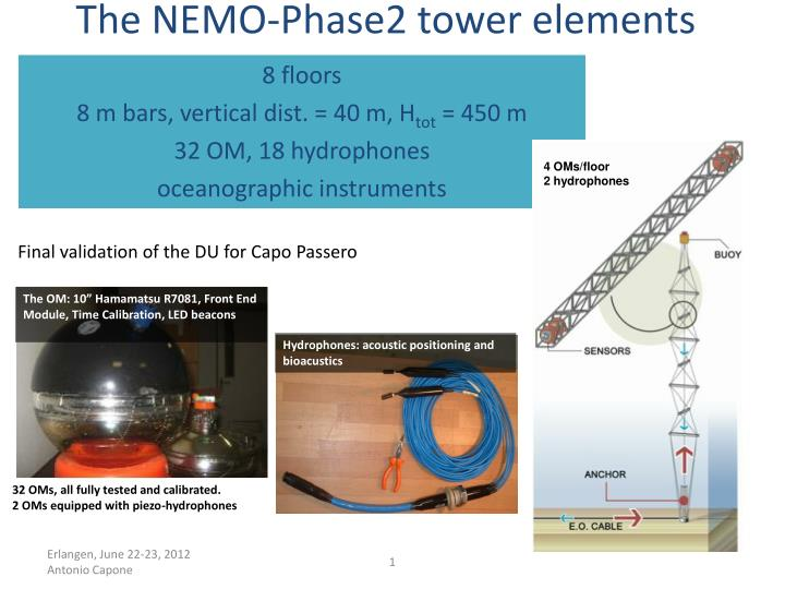 The nemo phase2 tower elements