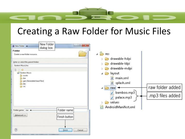 Creating a Raw Folder for Music Files