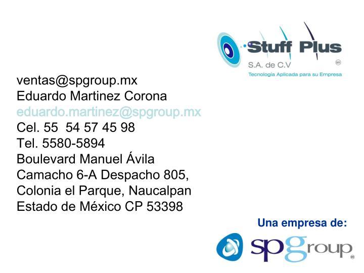 ventas@spgroup.mx