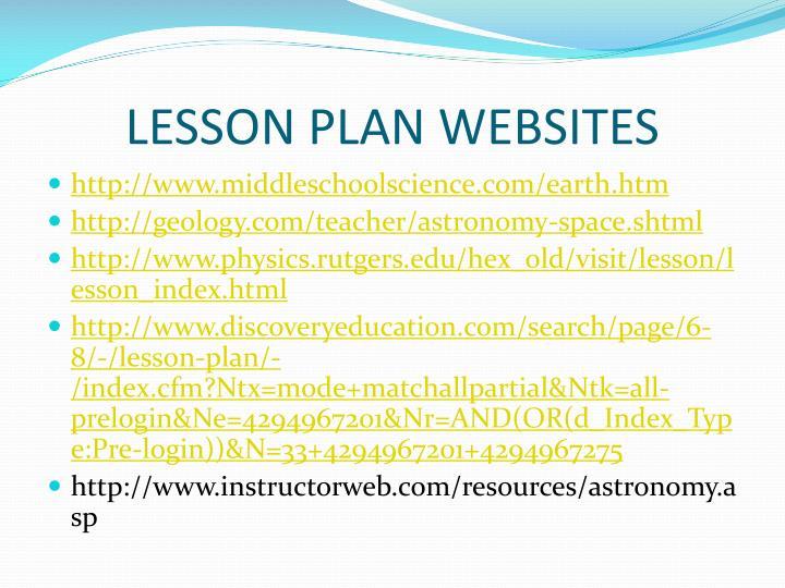 LESSON PLAN WEBSITES