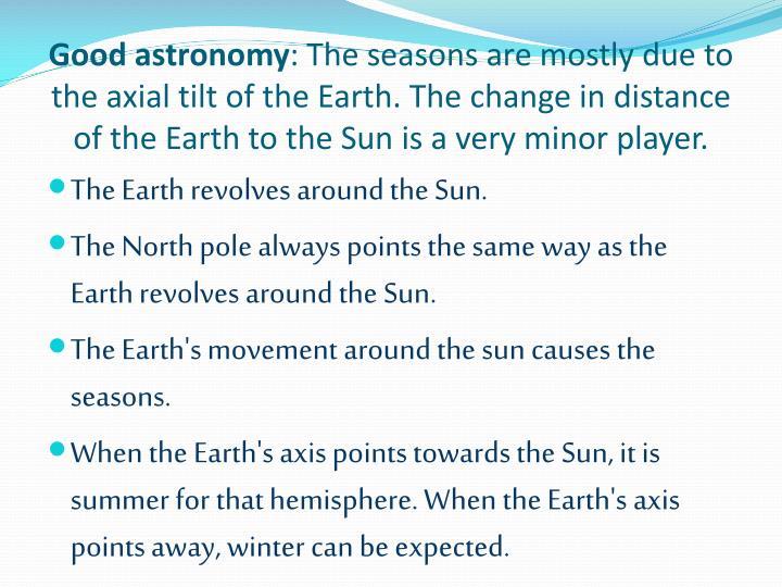 Good astronomy