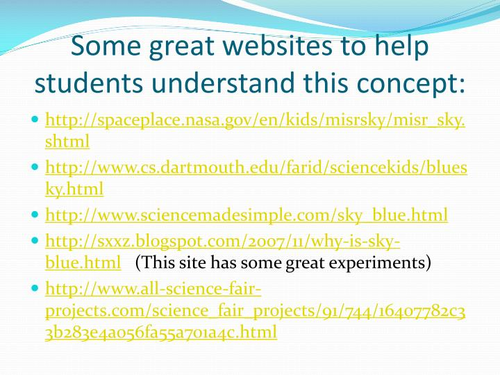 Some great websites to help students understand this concept: