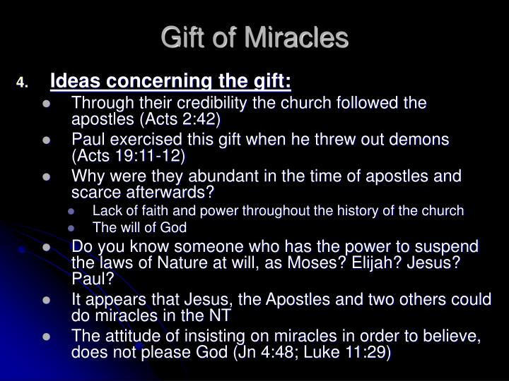 Gift of Miracles
