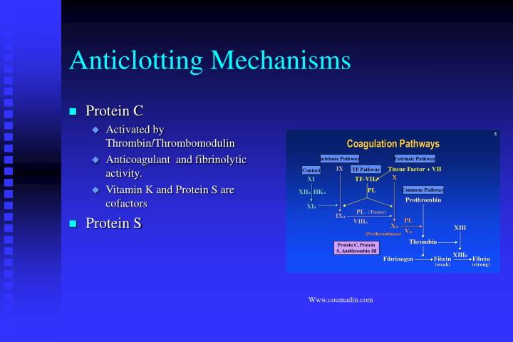 Anticlotting Mechanisms