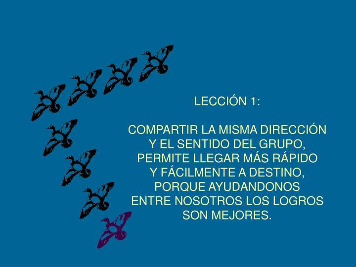 LECCIÓN 1: