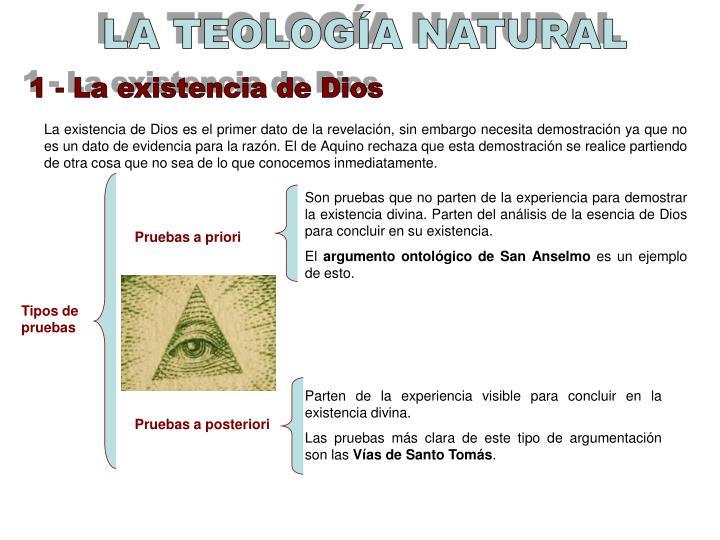 LA TEOLOGÍA NATURAL