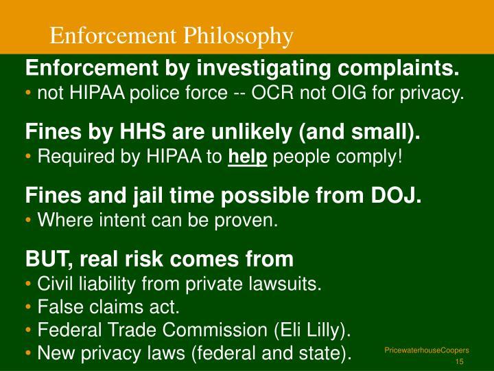 Enforcement Philosophy