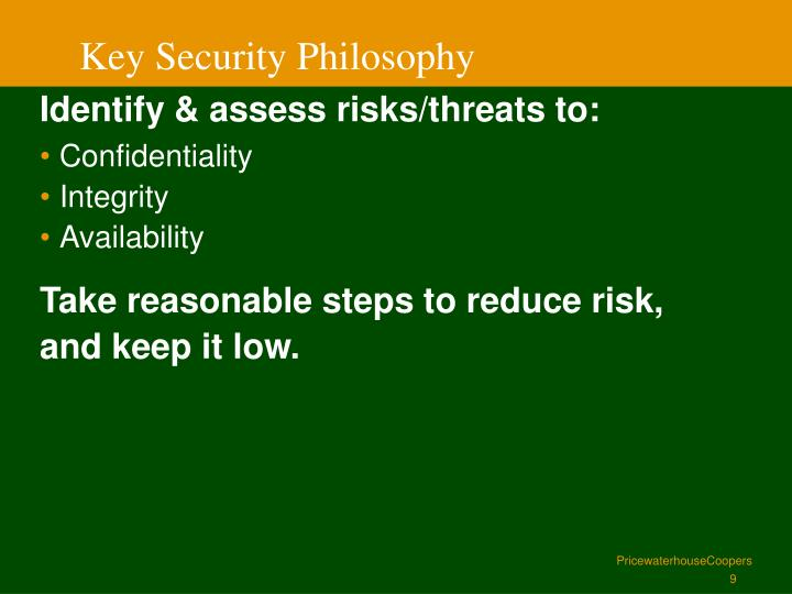 Key Security Philosophy