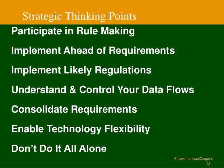 Strategic Thinking Points