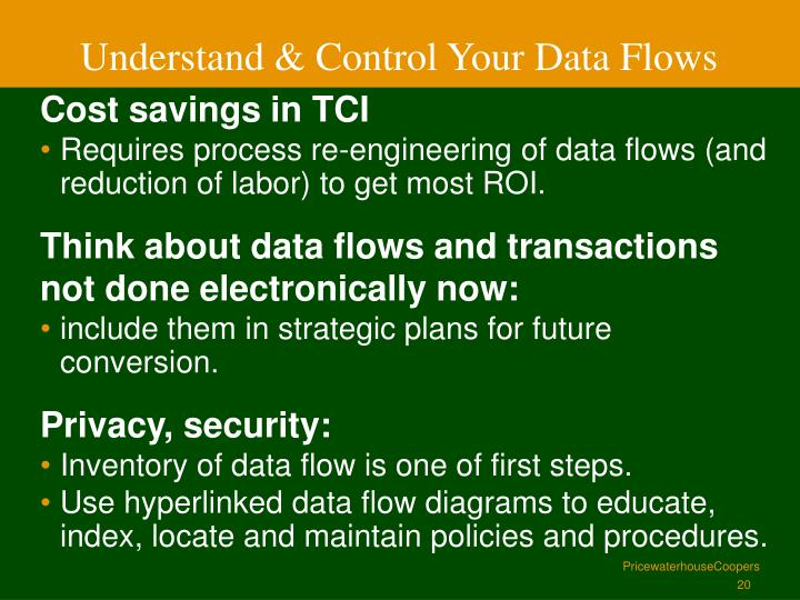 Understand & Control Your Data Flows