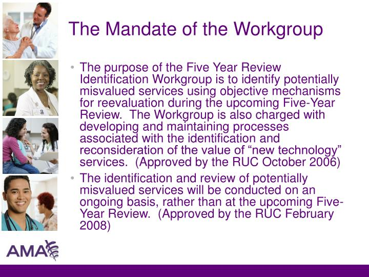 The Mandate of the Workgroup