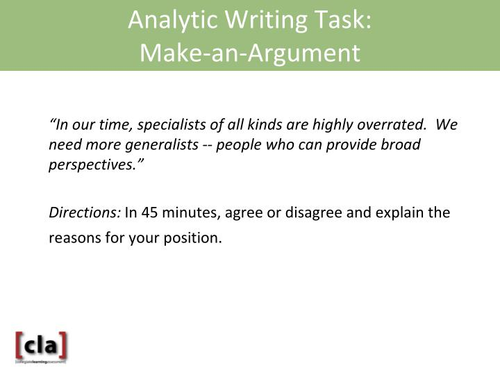 Analytic Writing Task: