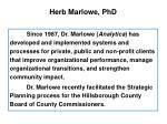herb marlowe phd