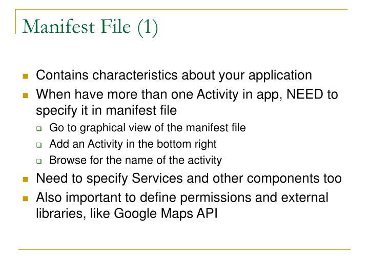 Manifest File (1)