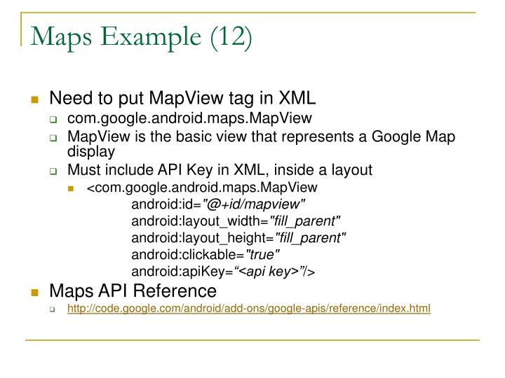 Maps Example (12)