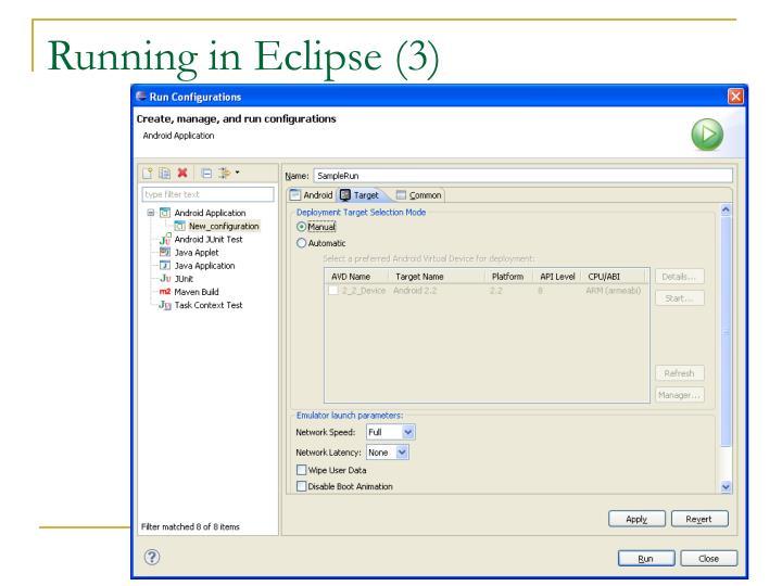 Running in Eclipse (3)