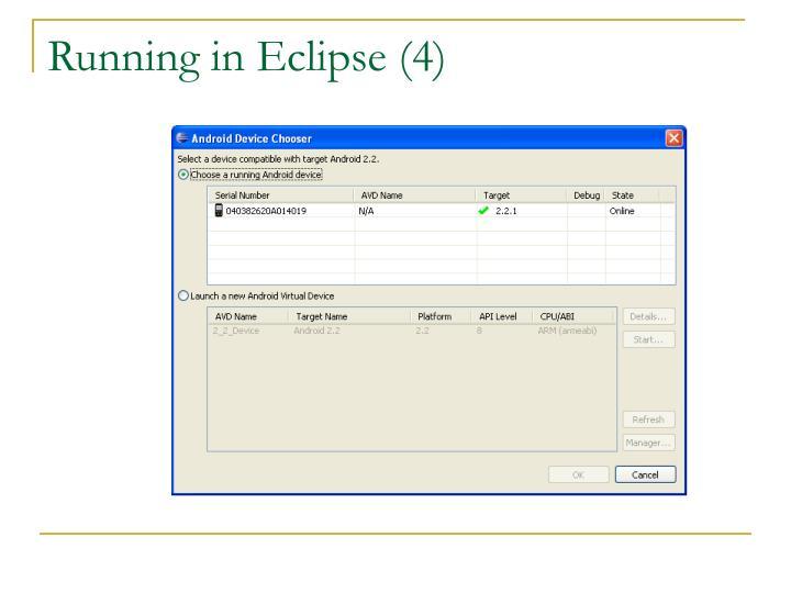 Running in Eclipse (4)