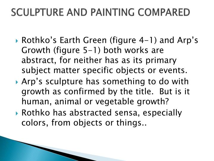 SCULPTURE AND PAINTING COMPARED