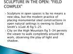 sculpture in the open field complex