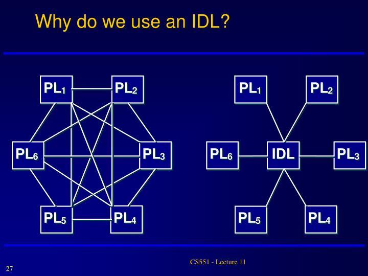 Why do we use an IDL?