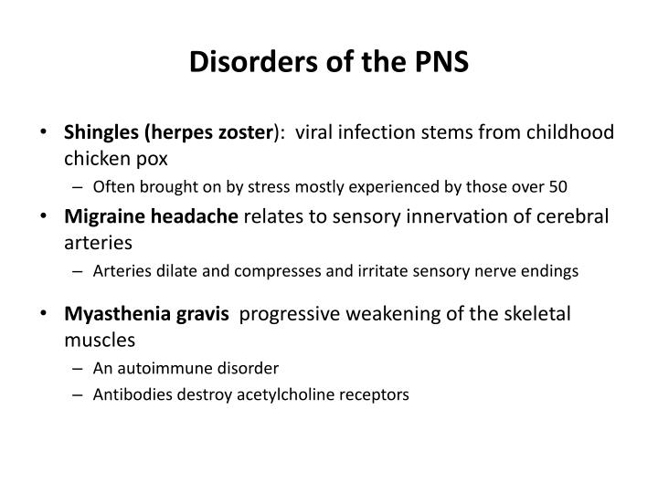 Disorders of the PNS