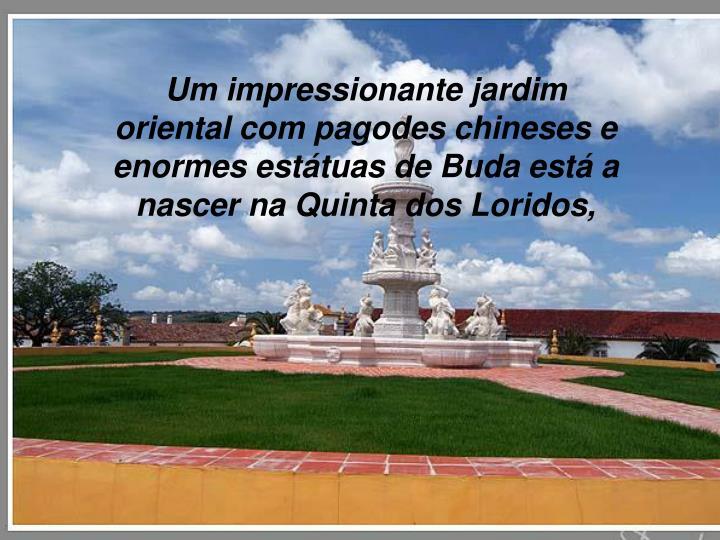 Um impressionante jardim oriental com pagodes chineses e enormes estátuas de Buda está a nascer na Quinta dos Loridos,