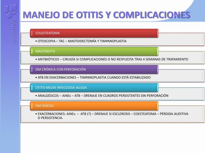 MANEJO DE OTITIS Y COMPLICACIONES