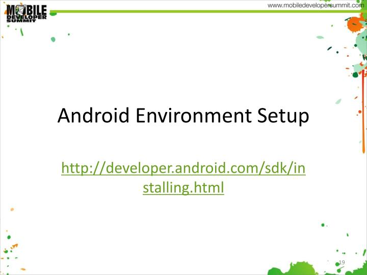 Android Environment Setup