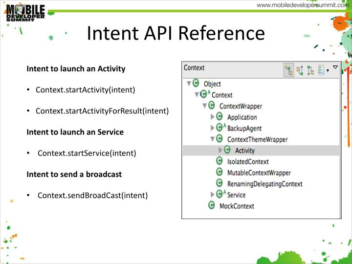 Intent API Reference