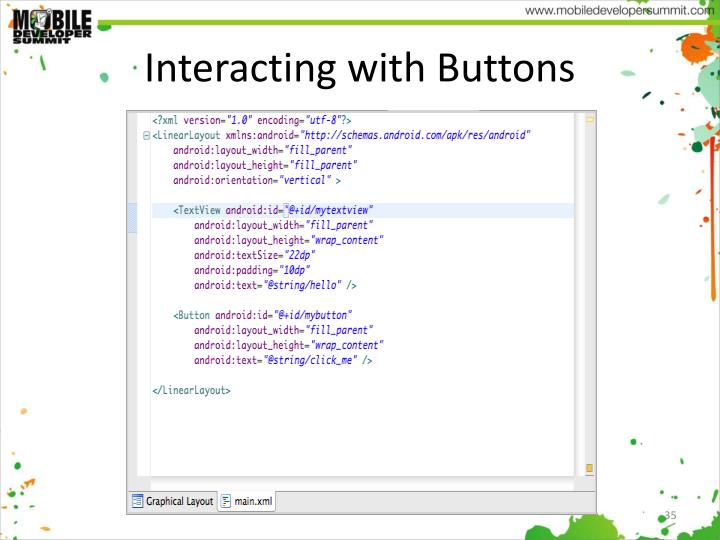 Interacting with Buttons
