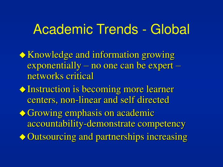 Academic trends global