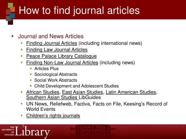 How to find journal articles