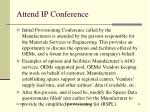 attend ip conference