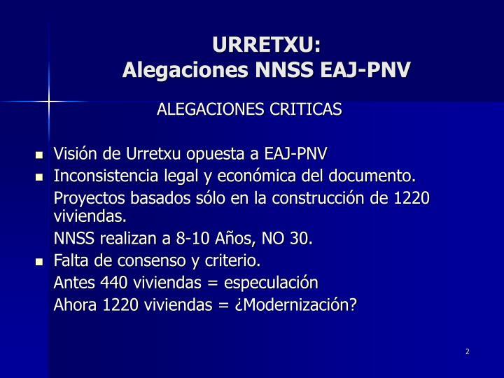 Urretxu alegaciones nnss eaj pnv1