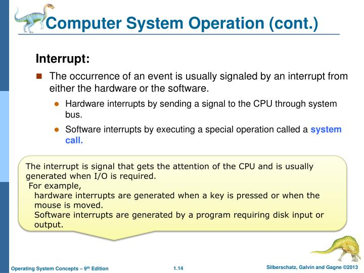 Computer System Operation (cont.)