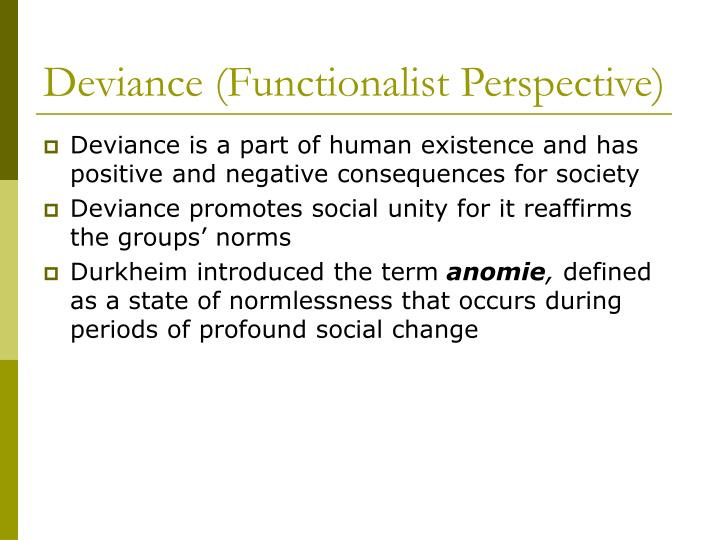 Deviance (Functionalist Perspective)