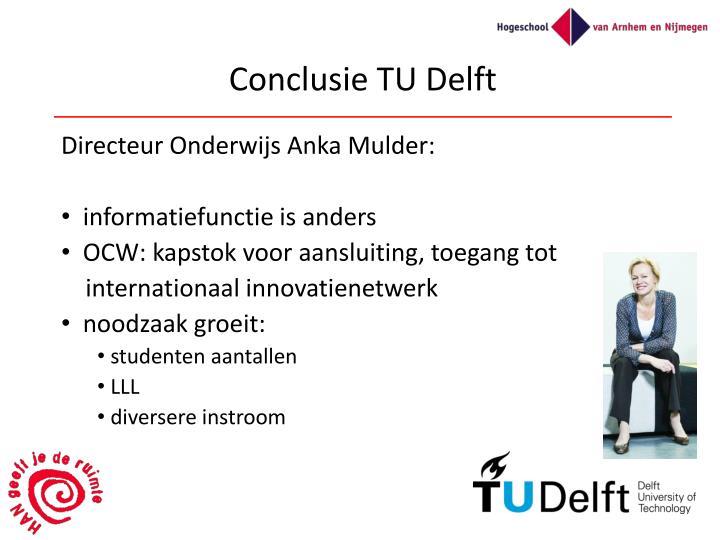 Conclusie TU Delft