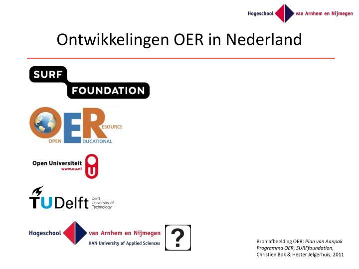Ontwikkelingen OER in Nederland