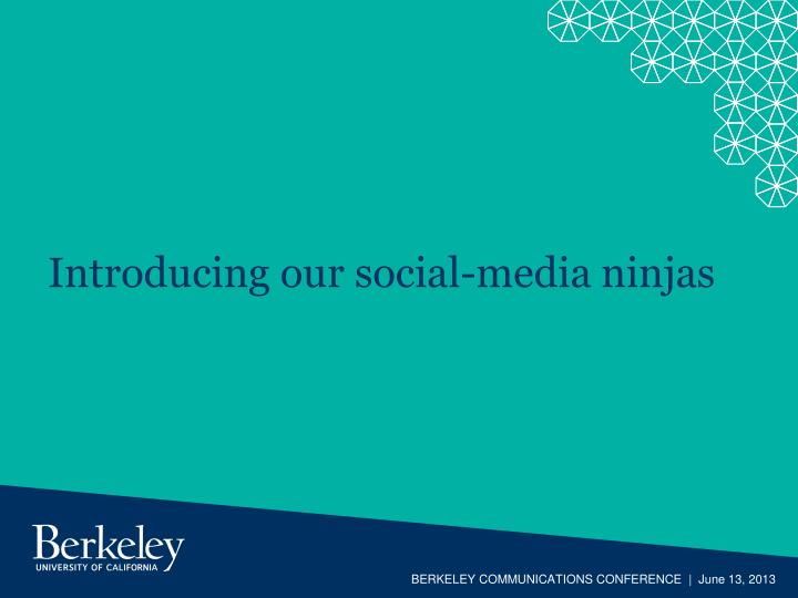 Introducing our social media ninjas