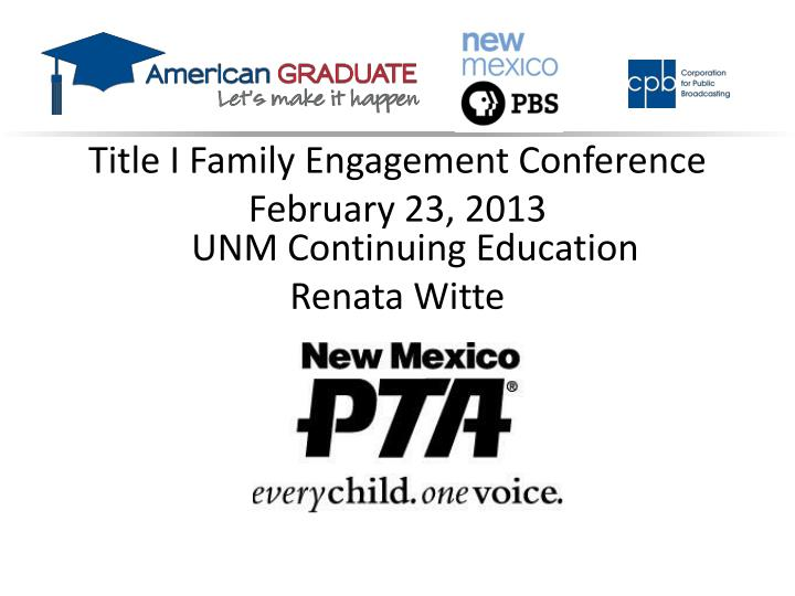 Title I Family Engagement Conference