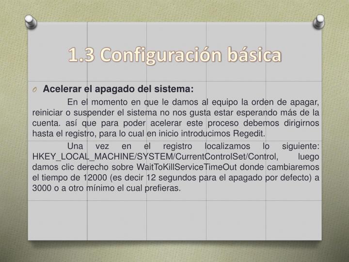 1 3 configuraci n b sica
