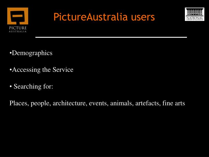 PictureAustralia users