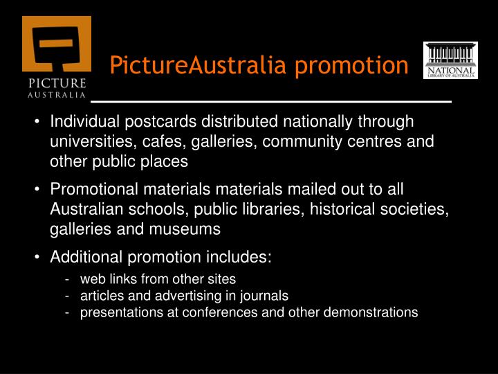 PictureAustralia promotion