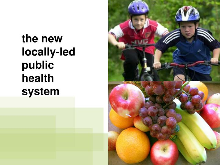 the new locally-led public health system
